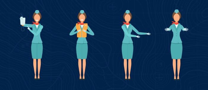azafata, aeromoza o tripulante de cabina