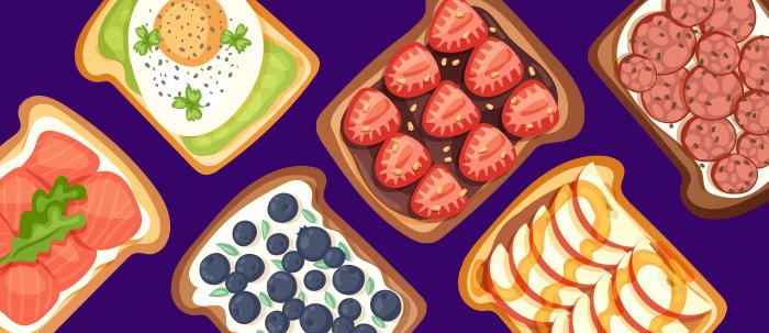 Las tostadas son una opción sencilla de preparar