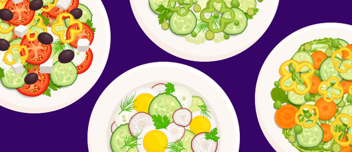 Las ensaladas son la opción más saludable para tu dieta de estudiante